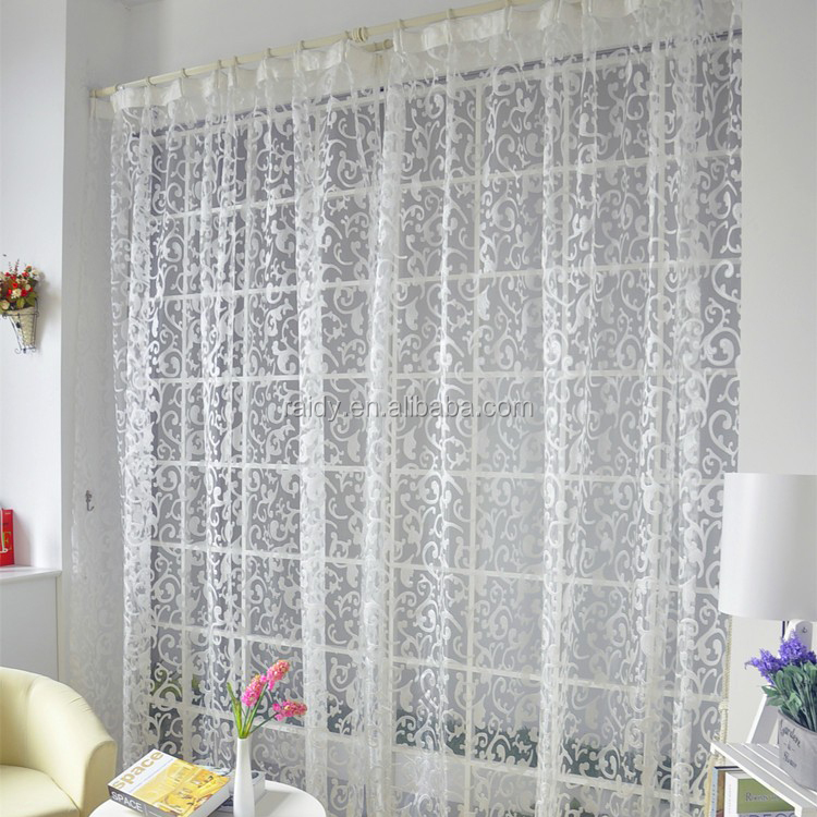 cheap french kitchen embroidery fabric lace curtain