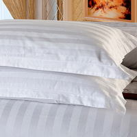 wholesale high quality 100% cotton white plain solid hotel standard pillow shell case cover