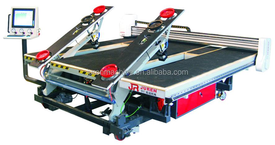 2017 new high precision automatic glass cutting lines with loader