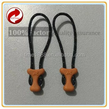 2015 GZ-Time Factory ykk zippers puller,long chain string pvc zip puller,ykk double sided string zipper puller