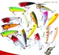 CHPP2-60-65 fishing minnow lure 60mm 6.5g 3D eyes popper bait Water Cormorant Hard Lure Feather three anchor hook