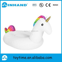customised towable pvc inflatable animal rider, inflatable unicorn float rider on animal toy