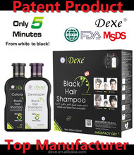 more than 10 years history in hair dye industry dexe black natural black hair shampoo