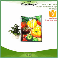custom pp woven laminated fruits vegetables supermarket big reusable bag alibaba trade assurance