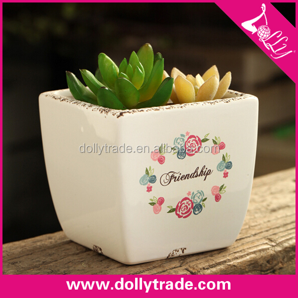 cheap small decorative ceramic flower pots wholesale