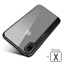 For iPhone X Case Luxury Soft Silicone TPU+Hard PC Armor Coque For Apple iPhone X Mobile Back Cover