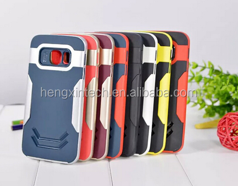 New Slim TPU+PC Shockproof Phone Back Cover Case for Sumsung Galaxy S6/S6 edge/ S6edge plus