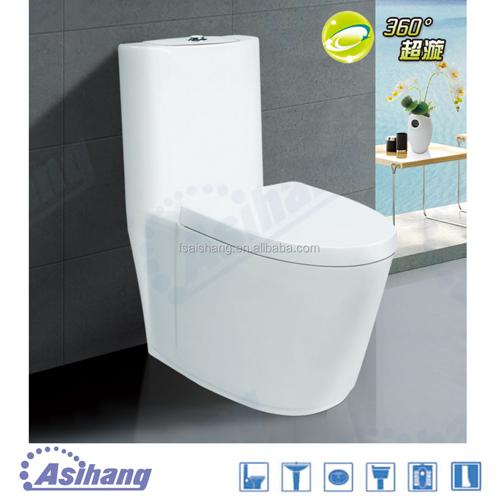 Foshan s-trap toilet bowl bathroom water save toilet bowl with sanitary fittings
