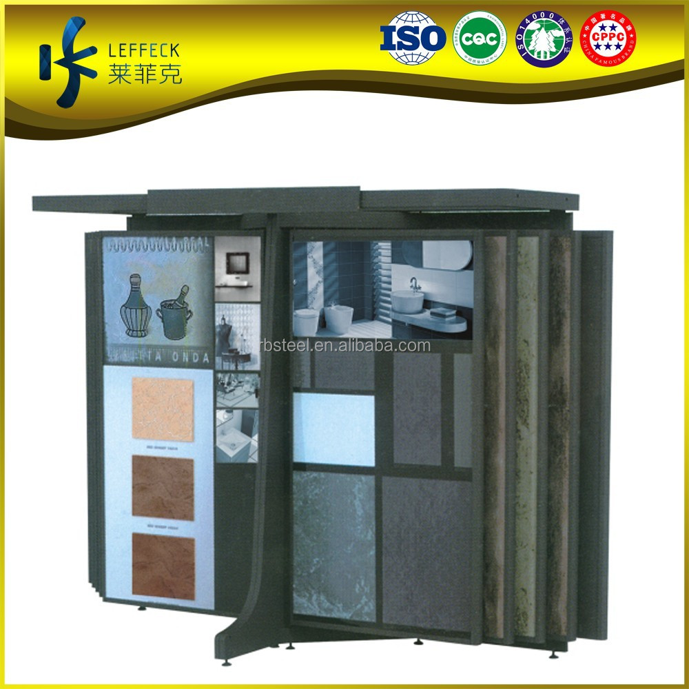 Metal Slidding Doors Tile Display System, Floor Tile Sample board,Tile Showroom Display