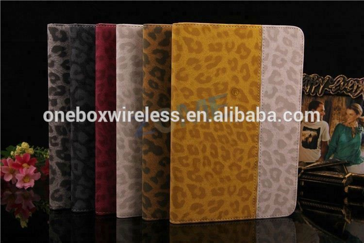 Leopard Print Leather Case For Ipad Mini 2 Smart Pouch Wallet Leather Case
