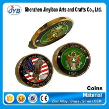 american embossed gold plated metal coins