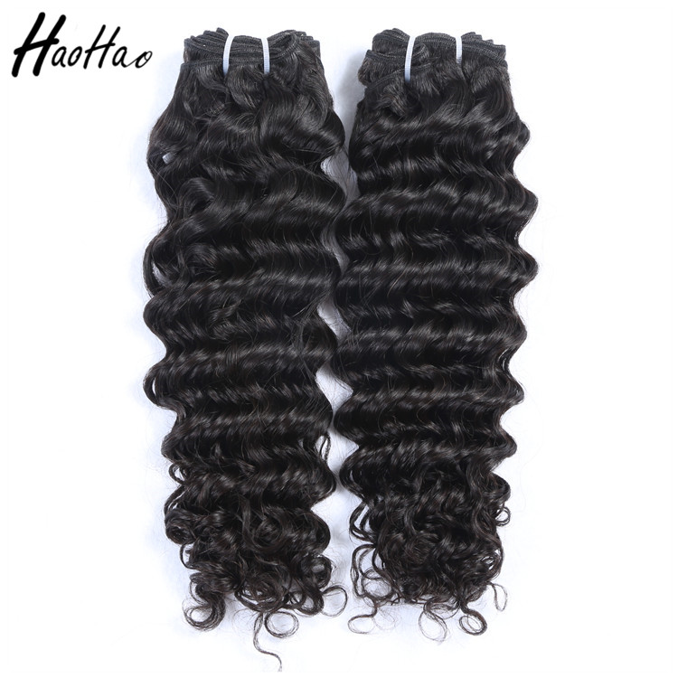 "Free shipping 12""-24"" natural color deep wave wholesale virgin cuticle aligned hair"