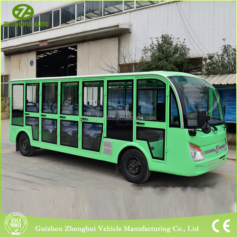 environmental 18 passengers petrol power tourist bus with CE Certificate