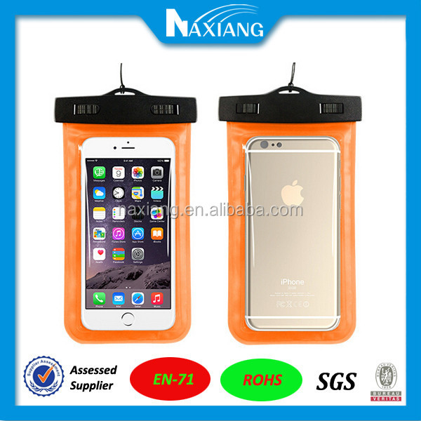 Hot selling <strong>mobile</strong> phone outdoor pvc eva tpu waterproof phone bag for iphone 6 plus