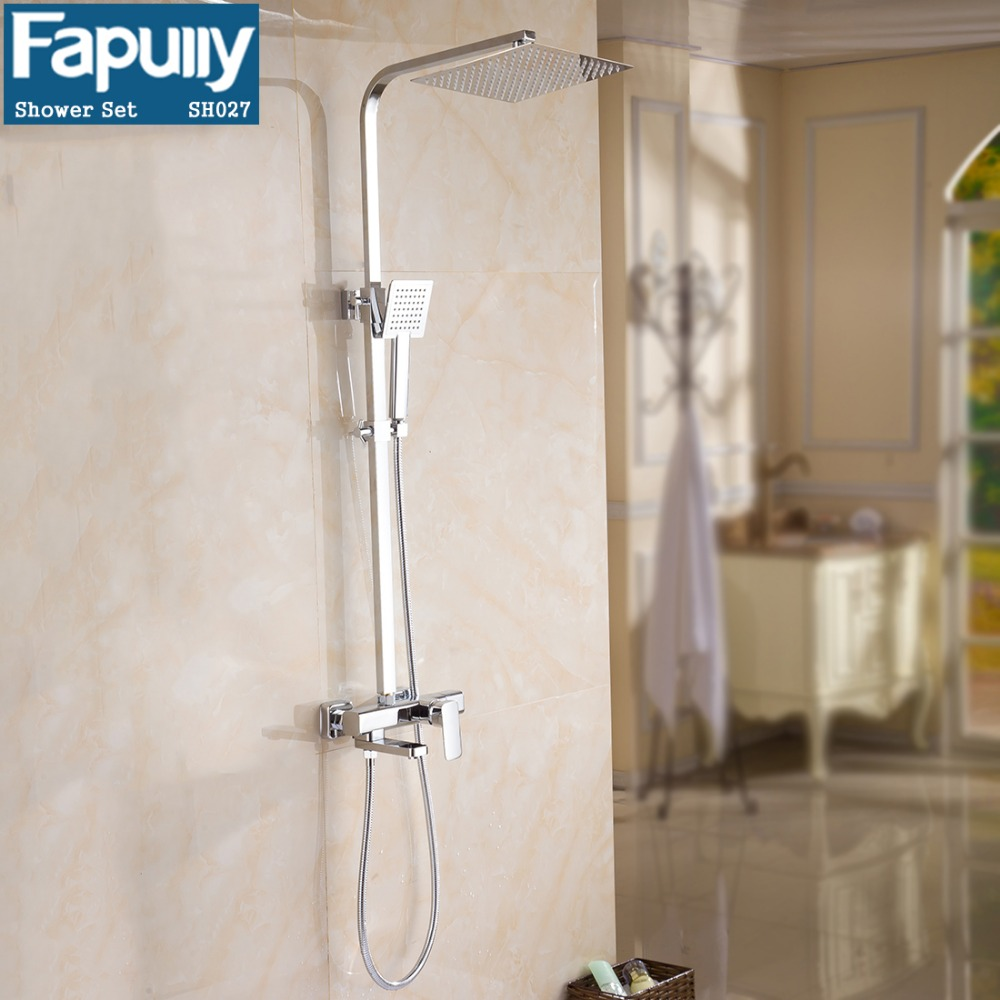 Fapully bathroom products wall mounted bath rain shower set