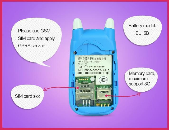 Cell phone ibaby gps id card, low radiation cheap price small gps tracker phone Cell phone ibaby