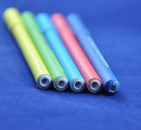 color paper ballpoint pens with paper top