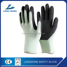 palm coated hand care latex rubber hand gloves cotton liner heat resistant work safety gloves
