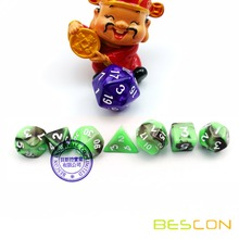 Set of 7 Mini Sizes Gemini Polyhedral Role Playing Game Dice 12MM