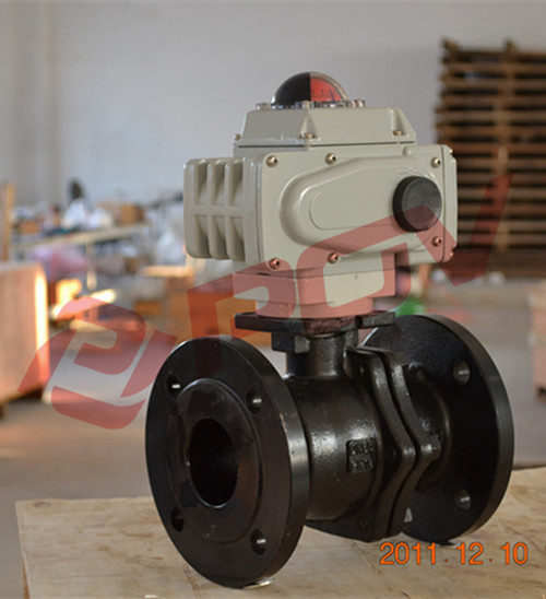DIN water wcb electric motor operated ball valve ac220v