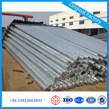 Hot Dip Galvanized Electric Power Steel Pole Octagonal