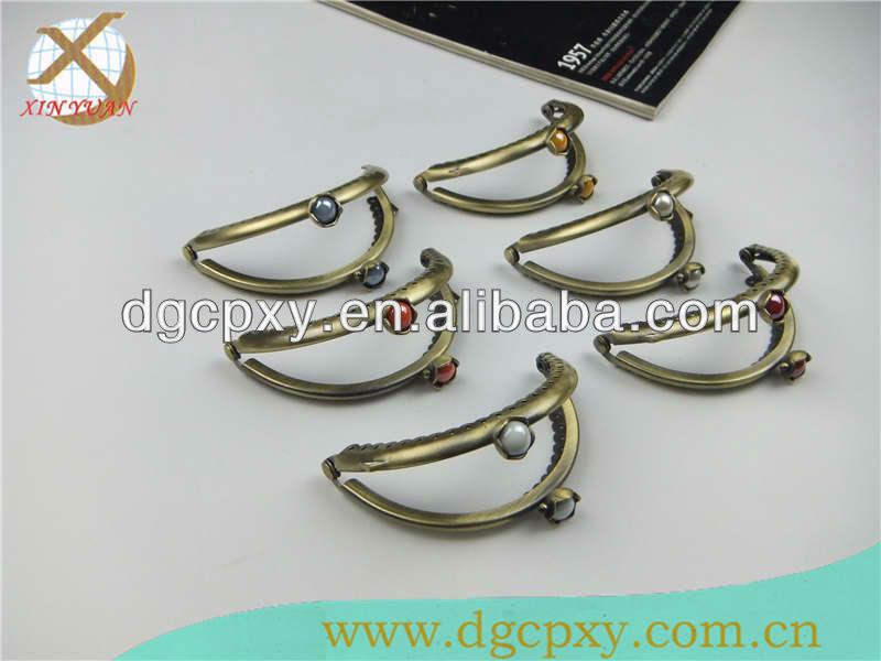 8.8*5.5cm Kiss Lock Frames Metal Bead Purse Frame for Christmas Bags