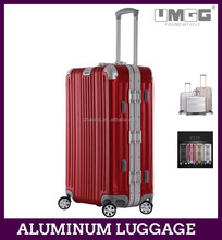 "High quality aluminum luggage 18""21""25 retractable travel suit case"
