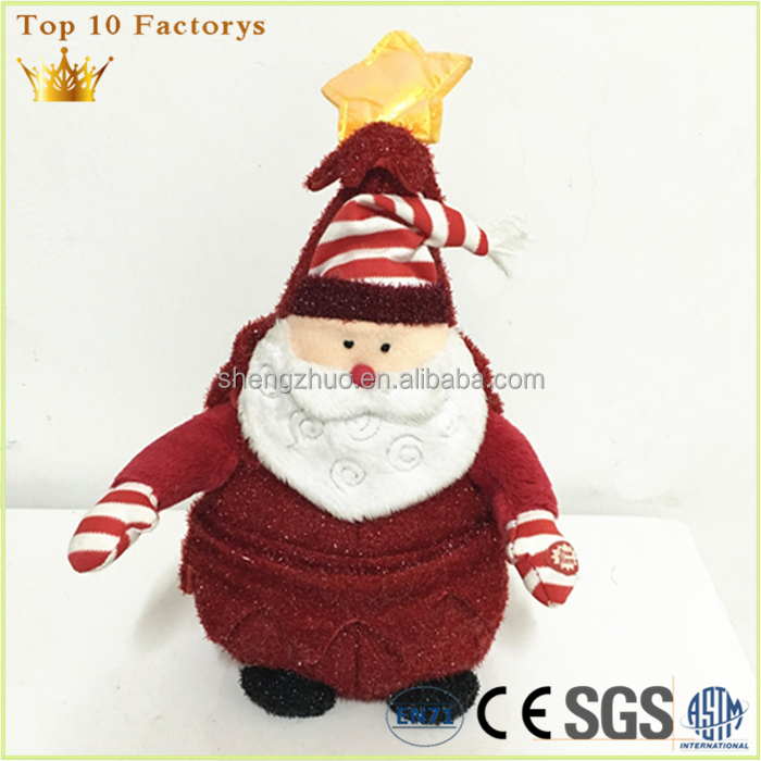 Plush electronic baby factory Foshan customized santa Dance soft toy