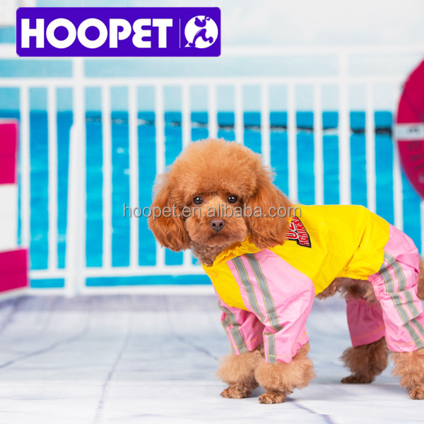 2015 New water-resistant clothes doggie raincoats