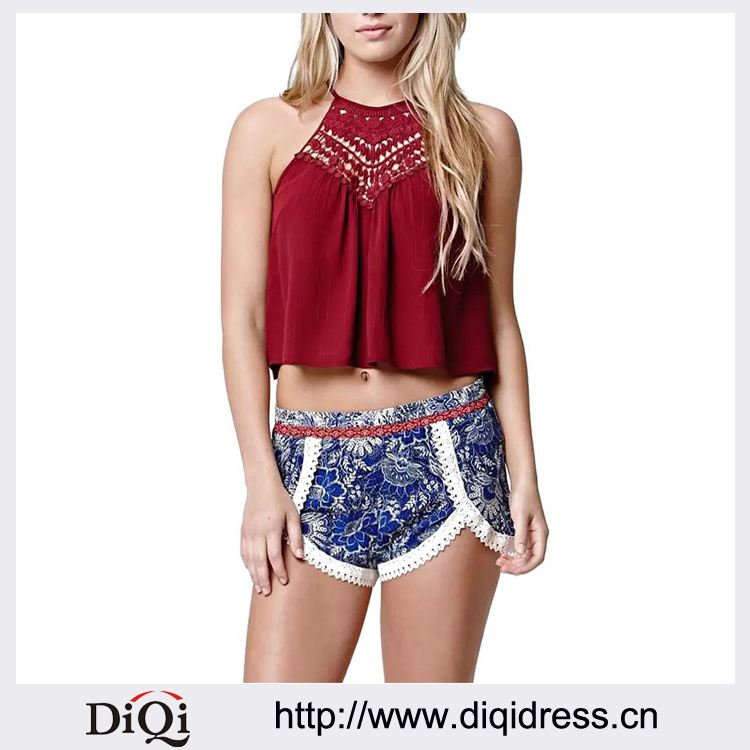 Bustier Crop Top Special Offer Cropped 2016 New Summer Style Women Sexy Tops Round Neck Sleeveless Solid Loose Lace Tank