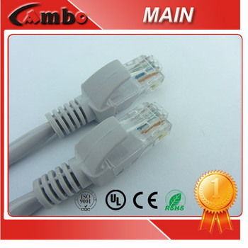 CE ROHS Compliant Grey Blue Red Jacket patch cable cat6 26AWG Bare Copper Lan Cable
