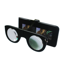 2020 promotional foldable mini <strong>3D</strong> <strong>VR</strong> <strong>glasses</strong> with keychain for smartphone