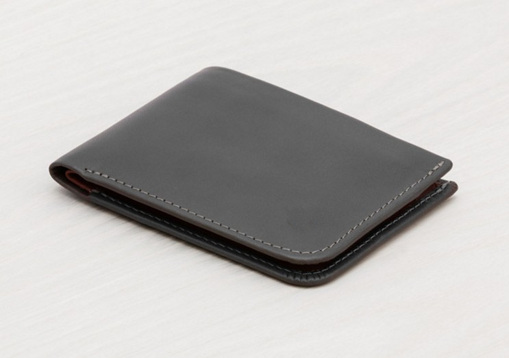 Front Pocket Business Credit Card Holder Case Custom Genuine Leather Slim Minimalist leather wallet