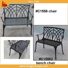 Double seat cast aluminum Outdoor Bench