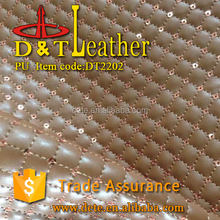 PU fabric sponge sequin leather hot selling in colombia leather