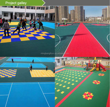 Good price new material flooring badminton court mat pp interlocking tiles badminton court interlocking flooring 2017