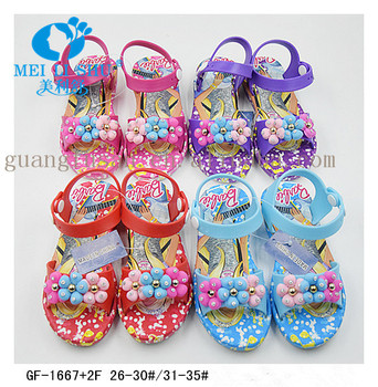 Kids and Teenage flowers gold dot girls SLIPPERS SANDALS