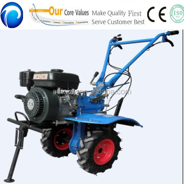 Good quality small manual hand push tractor rotary tiller with gear transmission