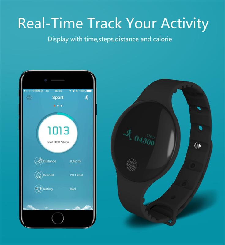 2017 new activity tracker BT 4.0 smart band with touch screen health bracelet for Android IOS mobile phone