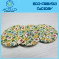 Colorful 4 holes fabric cover button handmade sewing wrap button