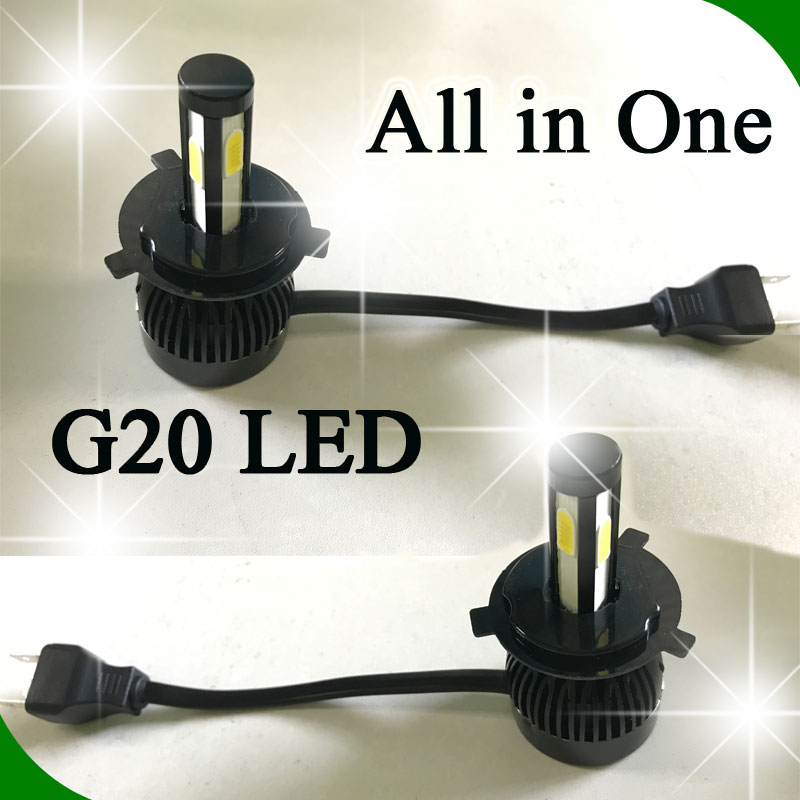 2017 Auto Parts Led Car Headlight H1 H3 H4 H7 H13 9007 9005 9006 12v 24v 6000K Led Headlight Bulbs H11 80W 8000LM