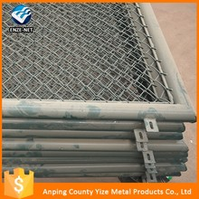 China supplier decorative green field chain link fence/metal chain link fabric