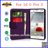 For LG G Pro 2, Leather wallet case for LG Optimus G Pro 2