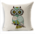Popular Owl cushion or pillow cover for home decoration
