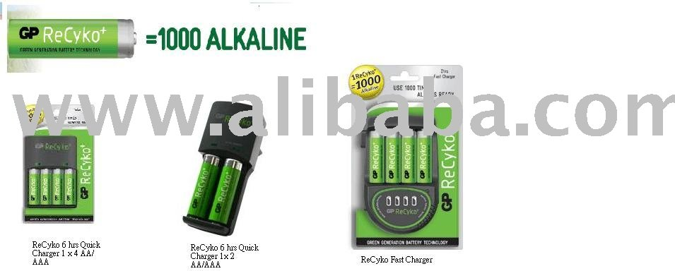 Gp Recyko Nimh Rechargeable Batteries+ Value Charger