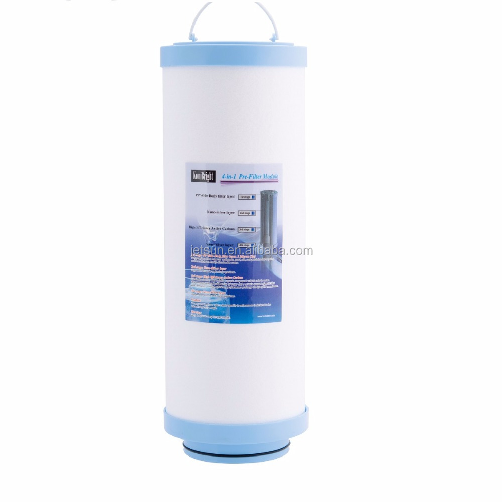 Taiwan Jetsun 4 in 1 pp 5 micron gac ro agua home pure water filter