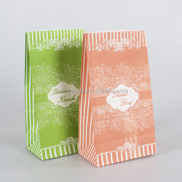 Customized logo craft Paper and gift bags wholesale color paper bag for food packing