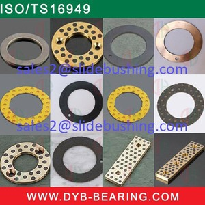 DU Slide Teflon thrust washers/Oilless PTFE bush washer/bronze steel backing Telfon washer