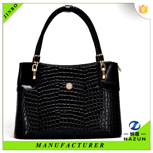 hot sales high quality trendy leather alligator pattern PU fashion tote bag for women