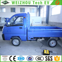 Chinese High Quality 1.4m Width Cab Electric Pickup Truck 2 Seats with Range Extender for Sale